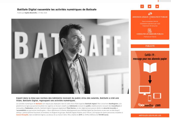 article Savoie Eco Mont blanc BatiSafe