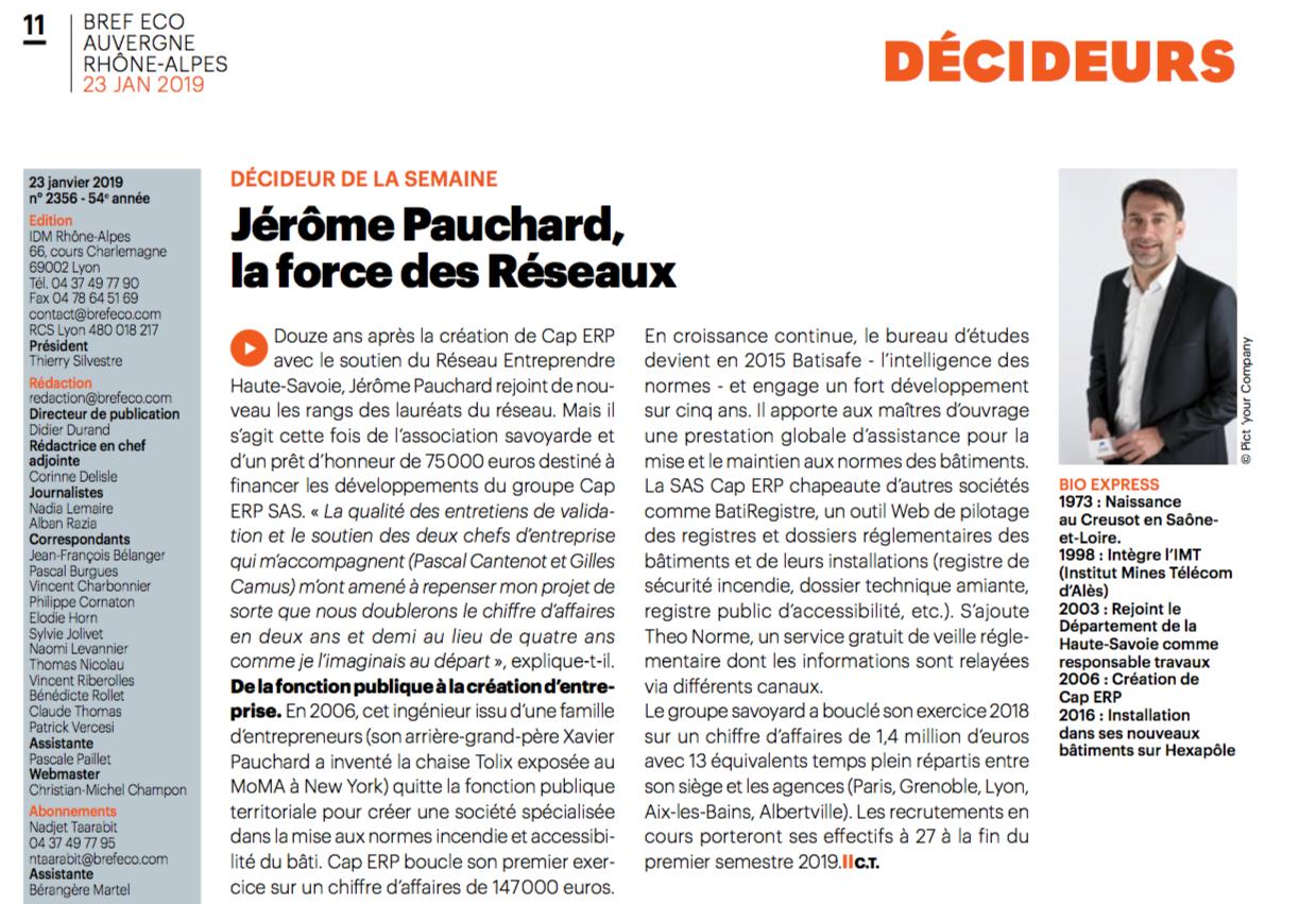 article bref eco - BatiSafe - janvier 2019