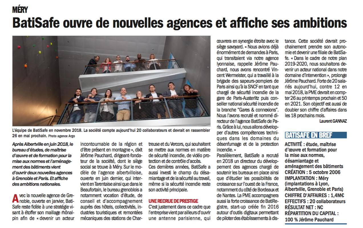 article BatiSafe - Dauphine entreprises - février19